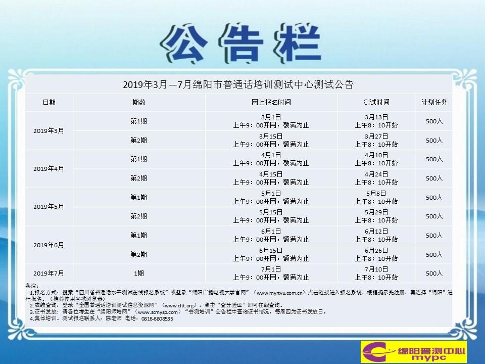 2019年3月-7月绵阳市普通话培训测试公告.jpg